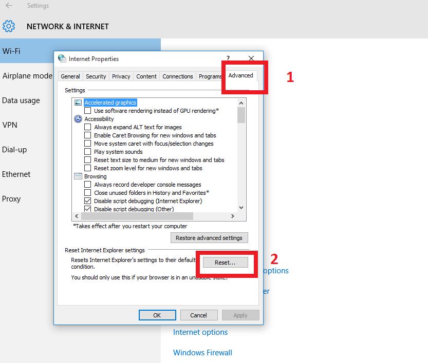 Internet Explorer Advance